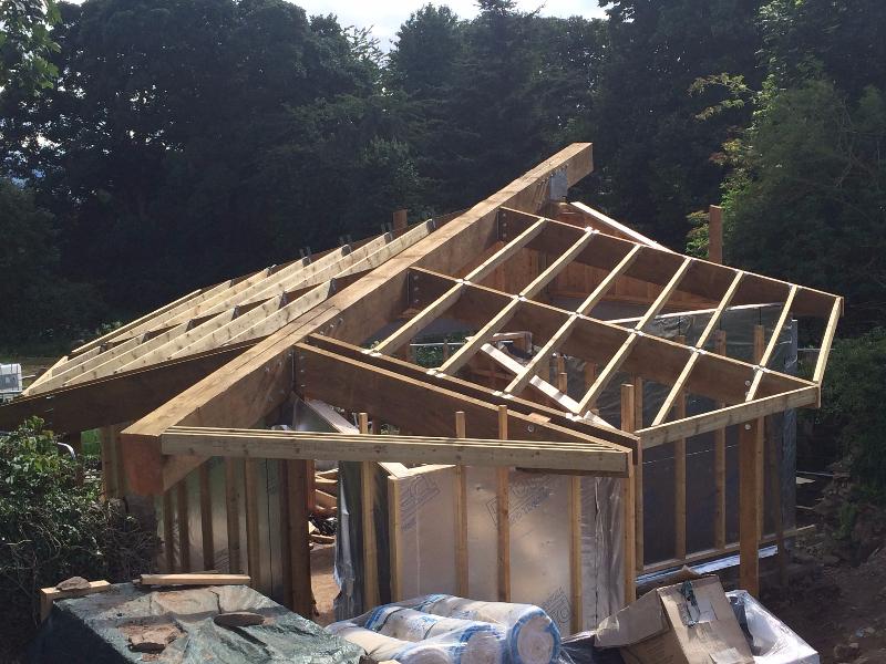 Ninewells Community Garden - Leaf Timber frame 1