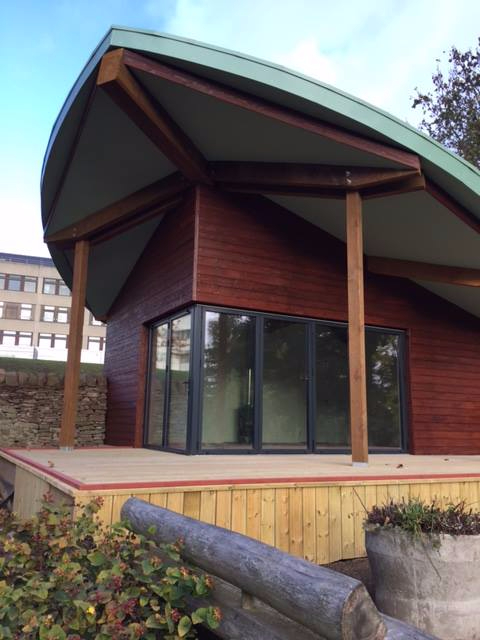Ninewells Community Garden - Leaf room front including decking